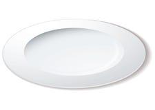 Angle de plaque de dîner illustration stock