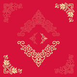 Angle Decoration of Chinese traditional style Stock Images
