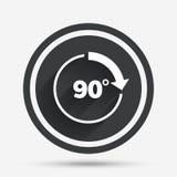 Angle 90 degrés d'icône de signe Symbole de maths de la géométrie illustration libre de droits
