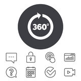 Angle 360 degrees sign icon. Geometry math symbol. Royalty Free Stock Photo