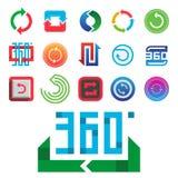 Angle 360 degrees web icons shape mark vector illustration geometry math signs badge full information symbols. Angle 360 degrees web icons shape mark vector Stock Photo