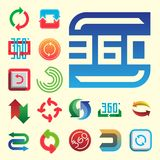 Angle 360 degrees web icons shape mark vector illustration geometry math signs badge full information symbols. Angle 360 degrees web icons shape mark vector Stock Images
