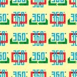 Angle 360 degrees web shape mark vector illustration geometry math seamless pattern full information. Angle 360 degrees web seamless pattern shape mark vector Royalty Free Stock Photo