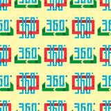 Angle 360 degrees web shape mark vector illustration geometry math seamless pattern full information. Angle 360 degrees web seamless pattern shape mark vector Royalty Free Stock Photos