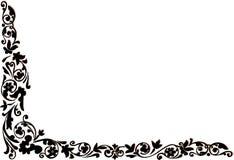 Angle enroulé par noir sur le blanc illustration stock