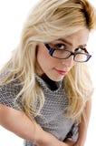 angle eyeglasses high view wearing woman Στοκ φωτογραφίες με δικαίωμα ελεύθερης χρήσης