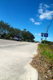 Angle faible de Bonita Beach Road Photographie stock