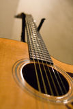 Angle faible de guitare de Taylor Photos stock