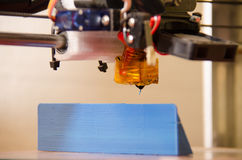 angle faible de l'imprimante 3D Photographie stock