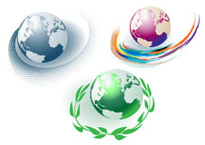 Angle from the globe Royalty Free Stock Image