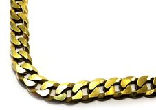 The angle of the gold chain. Royalty Free Stock Photos