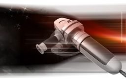 Angle grinder. Digital illustration of angle grinder in colour background Stock Photography