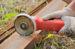 Angle grinder Stock Image