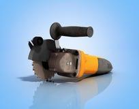 Angle grinder on blue background 3d render Stock Image