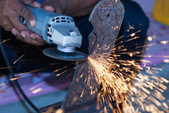 Angle grinder Stock Photo