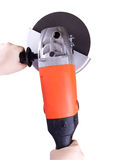 Angle grinder in hands Royalty Free Stock Photography
