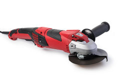 Angle grinder. Isolated on a white background Stock Photo