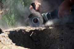 Angle grinder Royalty Free Stock Image