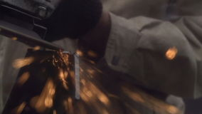 Angle Grinder stock video footage