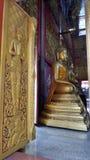 Angle guarding chapel entrance to Buddha hall Stock Photo