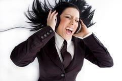 angle headphone high manager view wearing Στοκ Φωτογραφία