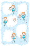 Angle kid cat cute cloud card Royalty Free Stock Photography