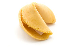 Angle latéral de biscuit de fortune photographie stock