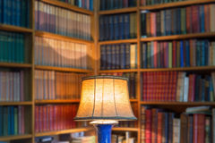 Angle library of old books and knowledge. Stock Photo