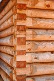 The angle of the Log cabin royalty free stock photo
