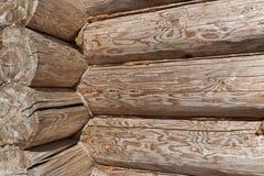 Angle of log home, horizontal Stock Photography