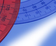 Angle measurement. (detail on blue Stock Photography