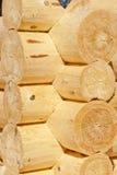 Angle Of Log Wooden Houses Stock Image