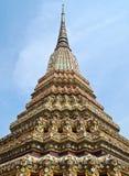 Angle Of Pagoda At Wat Pho , Bangkok In Thailand Stock Photo