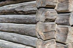 Angle old log home Stock Images