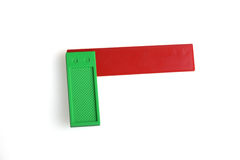 Angle, a plastic toy. On a white background Royalty Free Stock Photo
