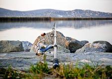 Angle pour des poissons Photos libres de droits