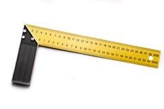Angle ruler. On white background Royalty Free Stock Photo