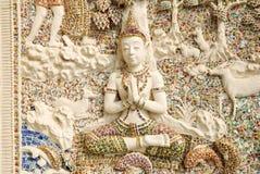 Angle Sculpture. Beside of church in Wat Klang Bang Keaw temple, Nakorn Chai-sri, Nakhon Pathom, Thailand Royalty Free Stock Images