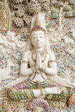 Angle Sculpture. Beside of church in Wat Klang Bang Keaw temple, Nakorn Chai-sri, Nakhon Pathom, Thailand Stock Images