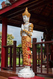 Angle sculpture. Thai angle sculpture in temple Royalty Free Stock Photo