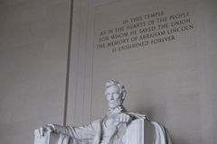 The Angle Shot of Abraham Lincoln Memorial in Washington DC Royalty Free Stock Images