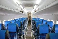 Angle shot of an airplane corridor Royalty Free Stock Photo