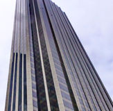 Angle of a skyscraper. A picture of an angle of a skyscraper in new york city usa Stock Images