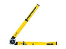 Angle spirit level Royalty Free Stock Photo