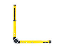 Angle spirit level Stock Image