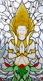 Angle stained glass Royalty Free Stock Photo