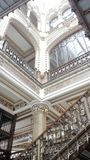 Angle stairs. Postal palace. Mexico city royalty free stock image