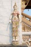 Angle Statue. Beside of church in Wat Klang Bang Keaw temple, Nakorn Chai-sri, Nakhon Pathom, Thailand Royalty Free Stock Photography