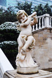 Angle Statue in Snowy Winter Royalty Free Stock Image