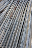Angle steel stacked together Stock Images
